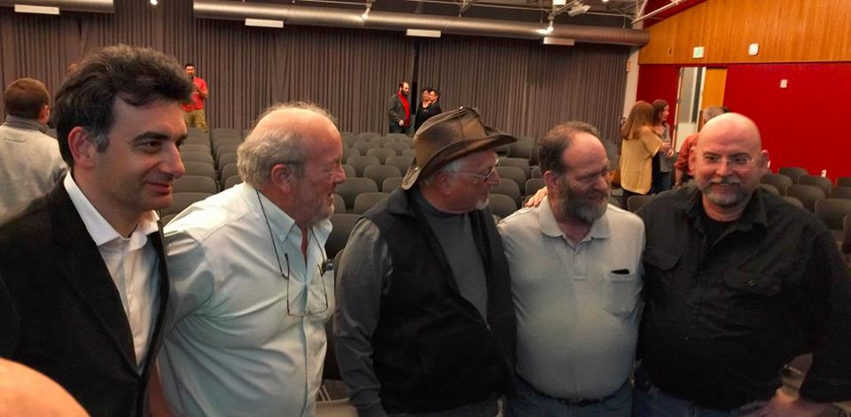 Bruno Gandpa, Al Alcorn, Chuck Peddle, Leonard Tramiel, Bil Herd at the release of Growing the 8 Bit Generation