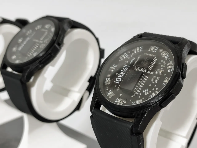 Arduino Wristwatch Has LED Hands