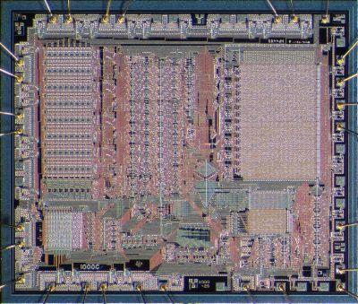 A die shot of a CMOS TMS1000. Pauli Rautakorpi [CC BY 3.0]
