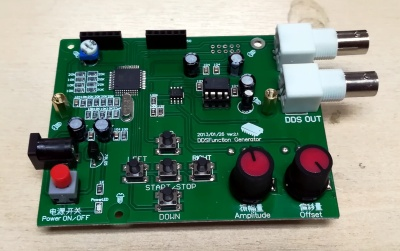 Laid bare, the function generators's chips.