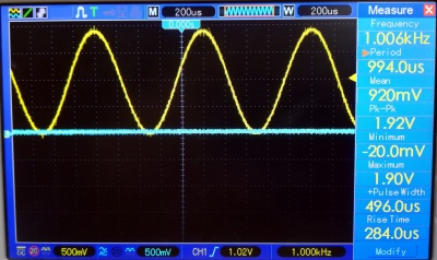 The function generator is certainly more reliable than the USB screenshot feature on a Hantek 'scope!