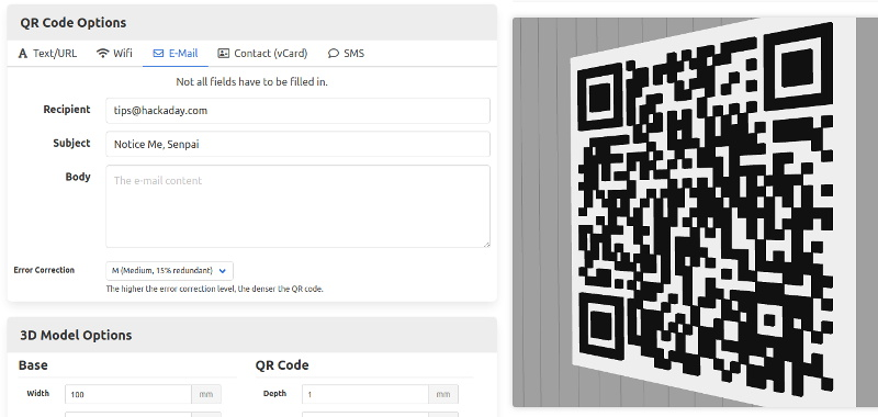 Generate 3D Printable QR Codes With This Web Tool