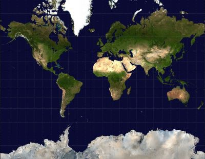 Some of these distances are not like the others: the familiar Mercator world map projection.