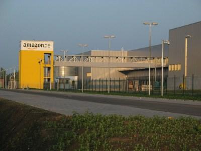 A European Amazon warehouse, in Leipzig. Medien-gbr / CC BY-SA 3.0