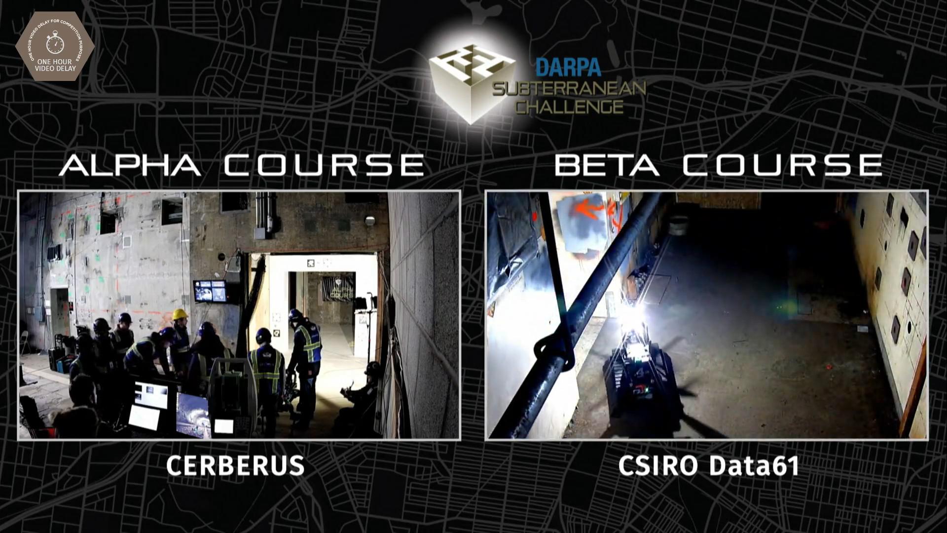 DARPA Subterranean Challenge Urban Circuit Now Livestreaming