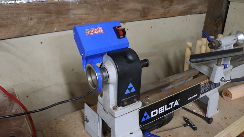 Digital Readout To A Wood Lathe