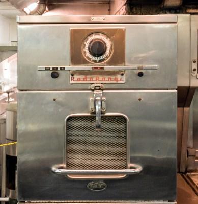 A Raytheon RadaRange microwave oven, on board the nuclear-powered NS Savannah