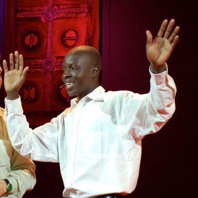 William Kamkwambas at TEDGlobal in 2007.