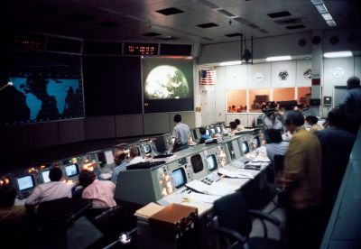 Inspiration from probably the coolest room in the world at the time, the Apollo mission control in Houston.