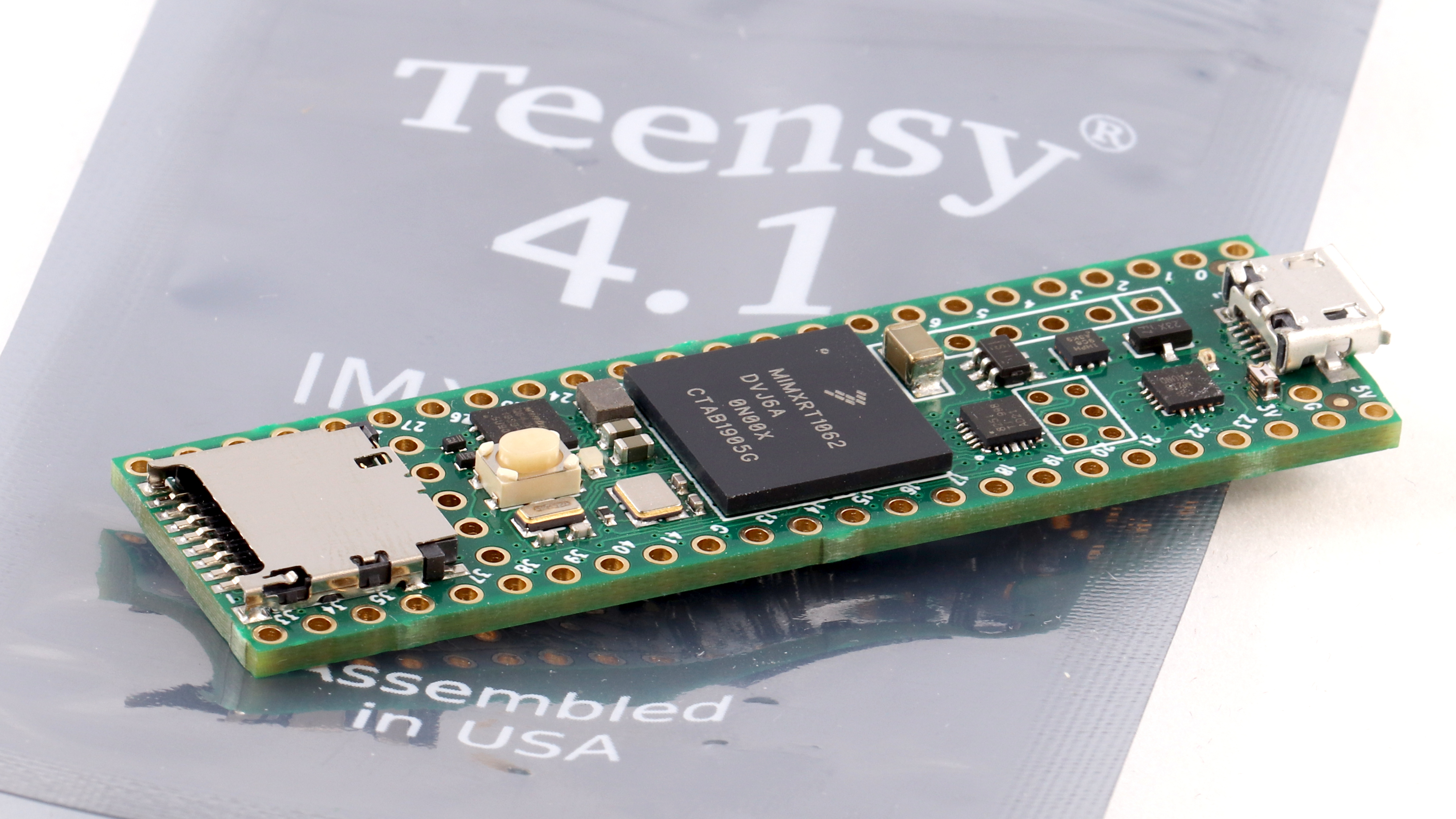 Teensy 3.5 with pins Plus breadboard and USB Cable
