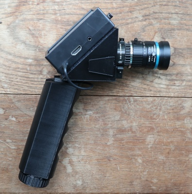 My pistol grip camera. Needs a bit of tweaking maybe, but breaking the 35mm-inspired form factor.