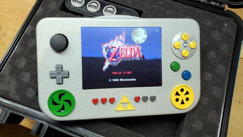 Custom Portable N64 Embraces Modern Making