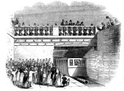 The Dalkey Railway as seen by the Ilustrated London News.