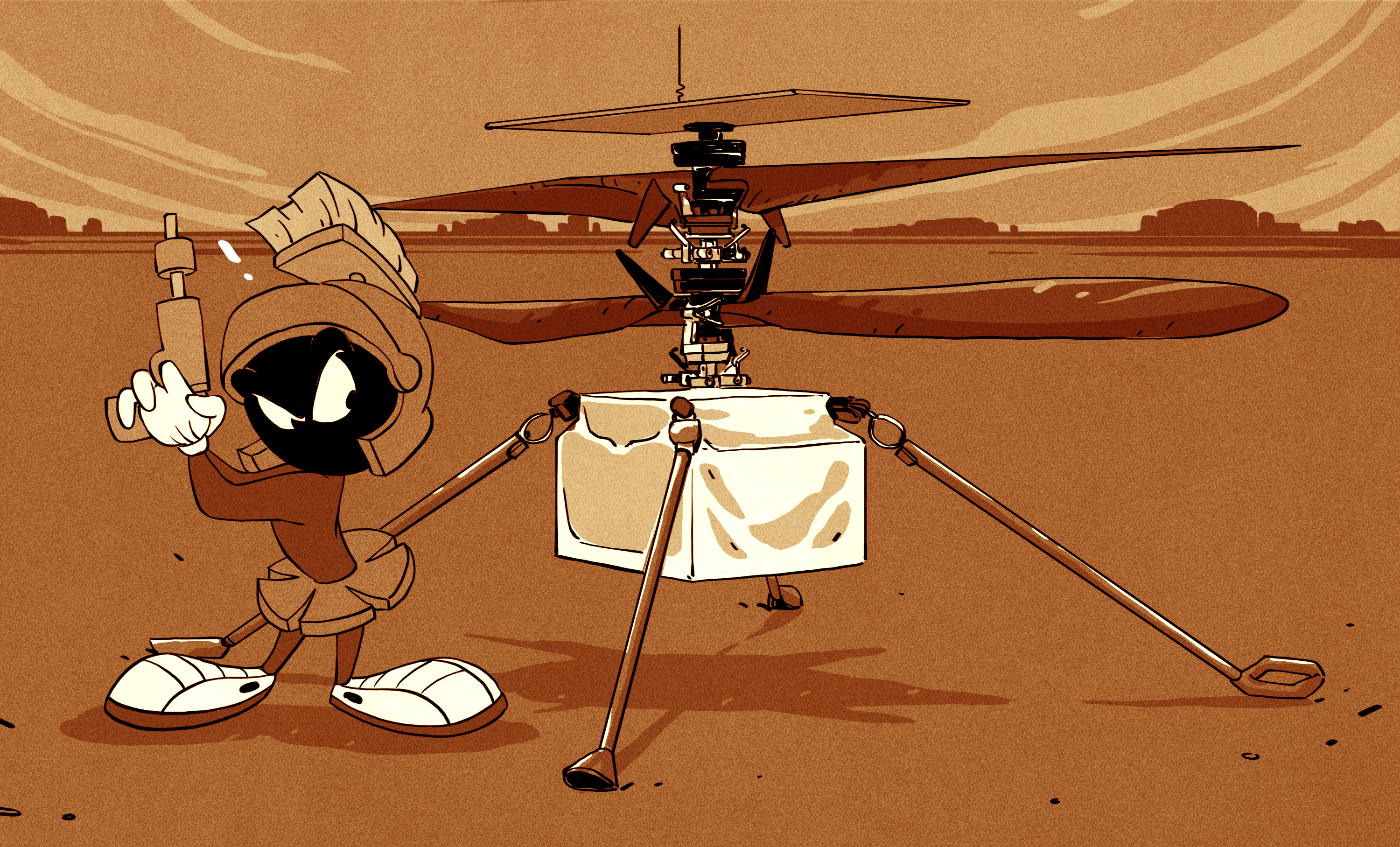The Wright Stuff: First Powered Flight on Mars Is a Success