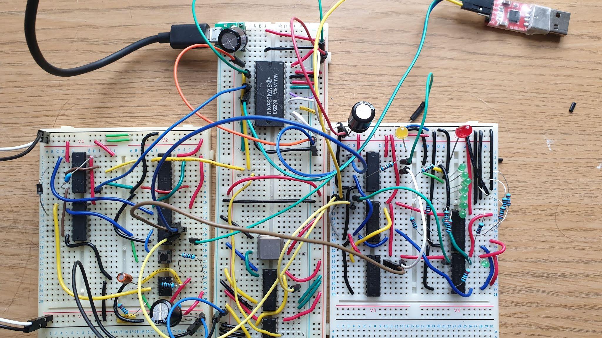 Discrete-Logic UART Keeps 8-Bit TTL Computer Connected