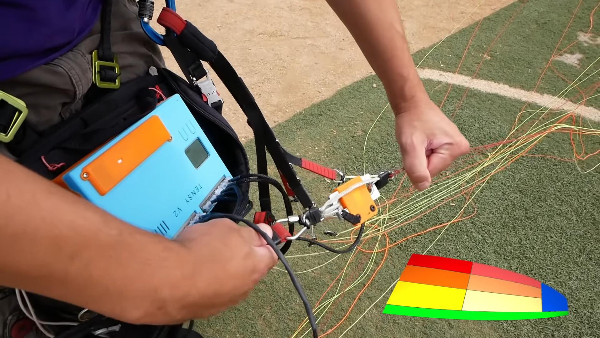 Custom Strain Gauges Help Keep Paraglider Aloft