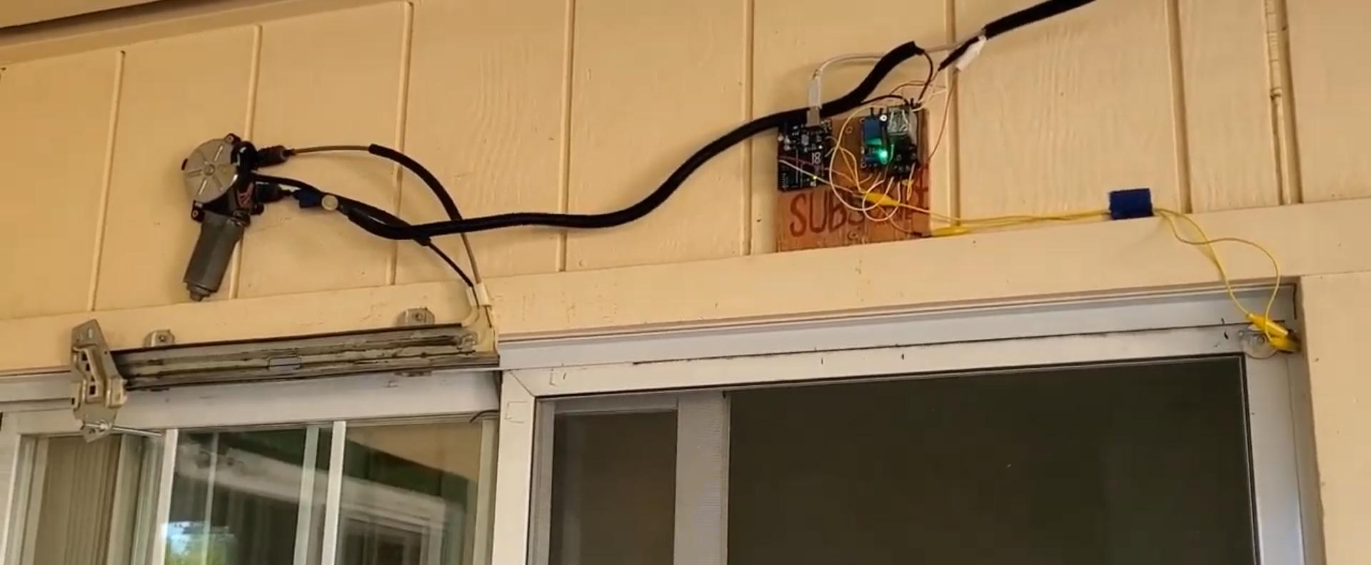 Electric Window Mechanism Into A Electric Screen Door