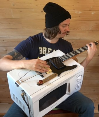 Guitar built from a microwave