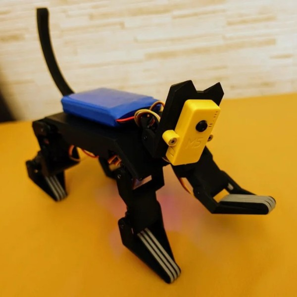 hackaday.com - Lewin Day - Robot Cat Takes Inspiration From Nature
