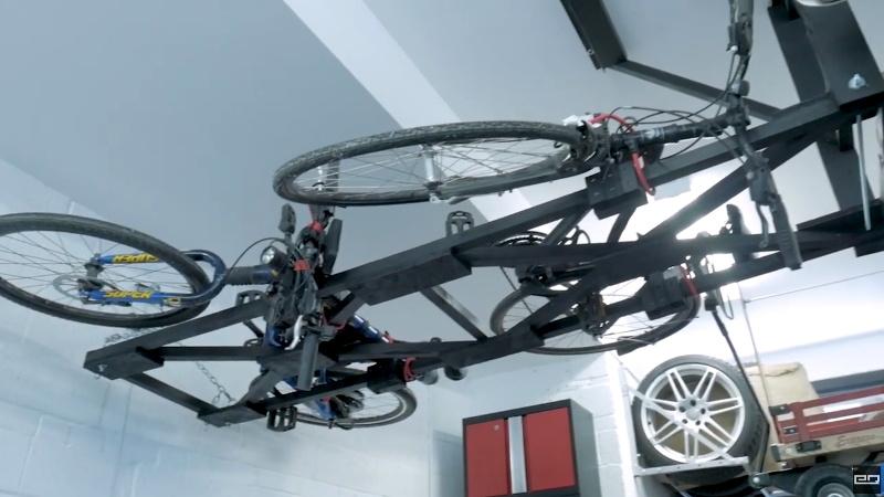 Saving Floor Space With A Scratch Built Bike Hoist