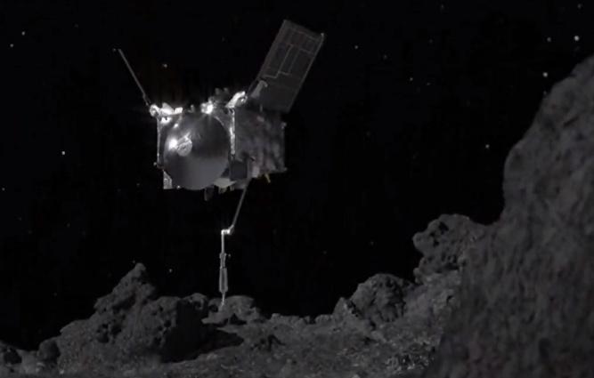 OSIRIS-REx Reaches Out and Touches Asteroid Bennu