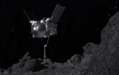 OSIRIS-REx Reaches Out and Touches Asteroid Bennu