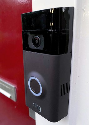 It looks so harmless, doesn't it. A Ring doorbell once installed.