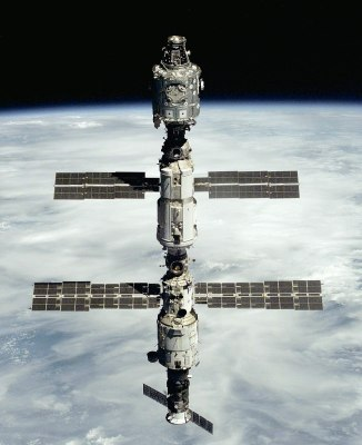 The ISS as it looked twenty years ago. NASA (Crew of STS-106), Public domain.