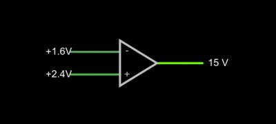 Op-amp schematic symbol