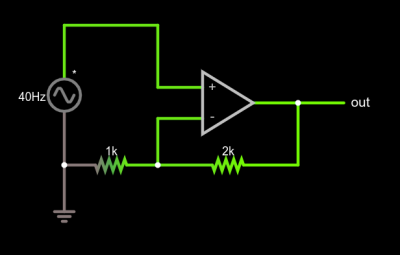 Non-inverting opamp circuit
