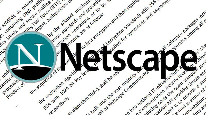 Netscape Communicator And SHA-1 Written Into Brexit Agreement
