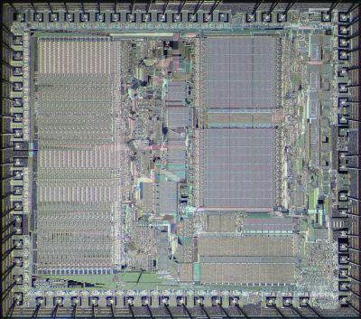 Motorola 68000 die shot