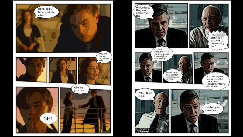 sample of automatically generated comics