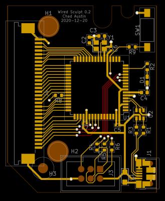 chadaustin's sculpt keyboard USB board layout