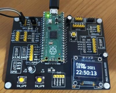 Development board for Raspberry Pi Pico.