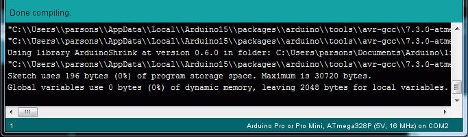 Honey, I Shrunk the Arduino Core