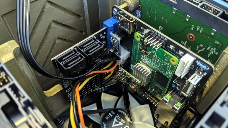 Compute Module 4 NAS With Custom Carrier Board