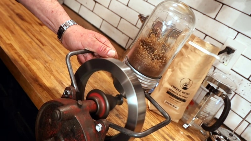 Grinding Coffee Beans the Machine Shop Way