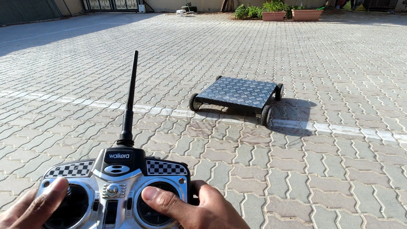 Hoverboard Turned Heavy Duty Remote Control Rover