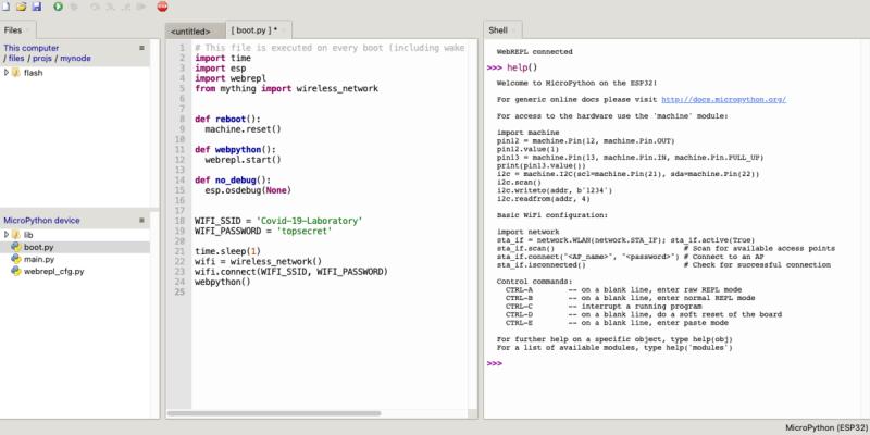 Wireless MicroPython Programming with Thonny