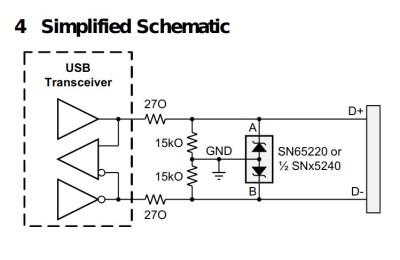 The SN65220 schematic