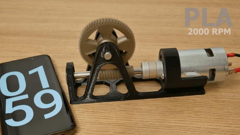 Testing 3D Printed Worm Gears