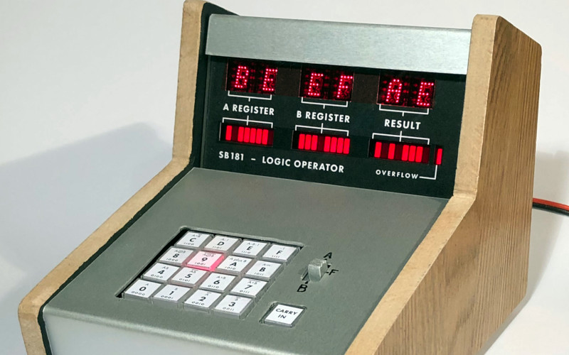 An ALU As A Desktop Calculator Has Stunning Style from Days Gone By