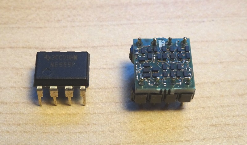 Smallest Discrete Transistor 555 Timer
