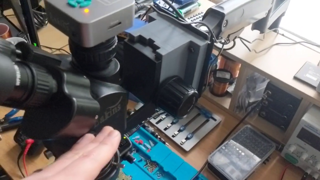 Repurpose a Monitor Arm as Microscope Mount