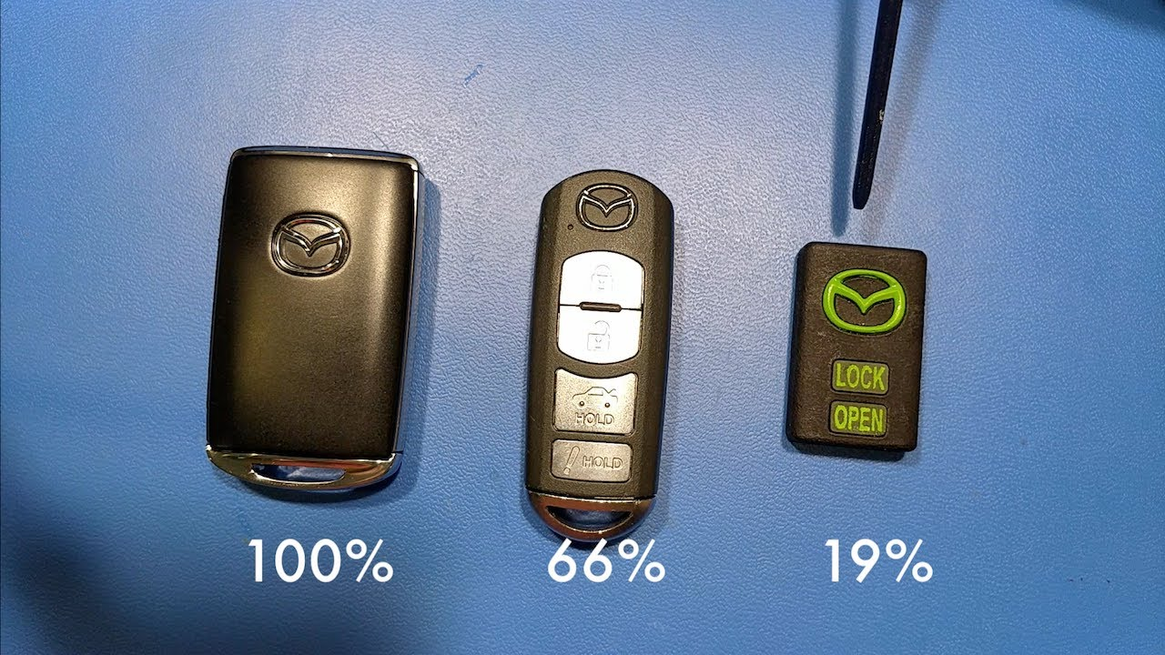 Custom Keyfob Fixes Mazda Design Mistake