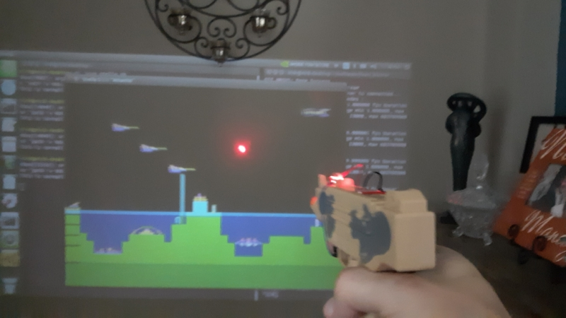Adding a Laser Blaster to Classic Atari 2600 Games with Machine Vision