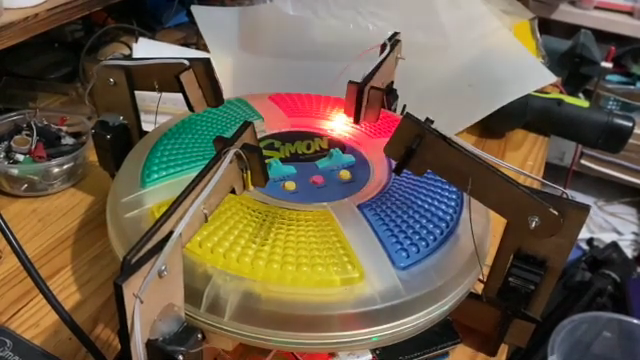 Four Servo Fingers Play Simon Better Than You Ever Could