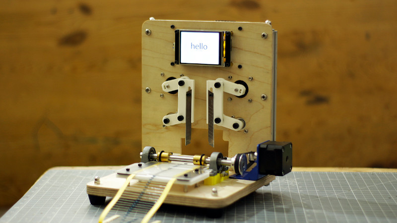 Tape Cutter Makes Short Work Of Through-Hole Resistor Reels