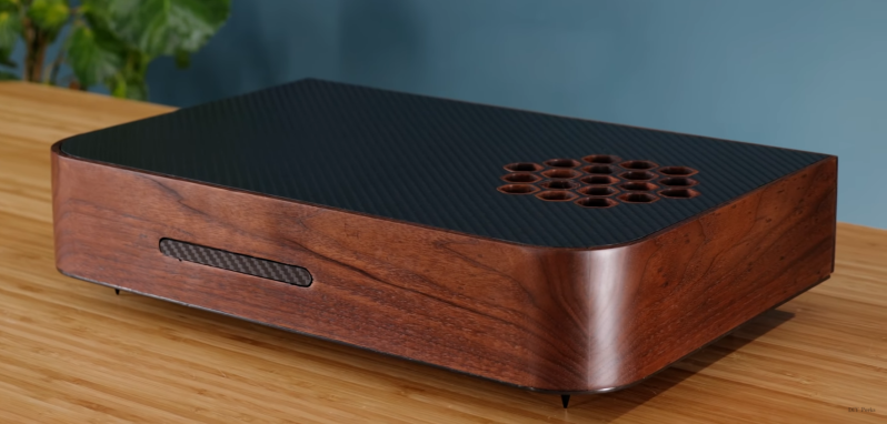 Disguising The PS5 With A Custom Wood And Carbon Fiber Enclosure